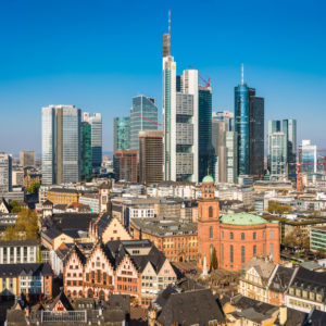 German financial towers illustrate a story on German fintechs